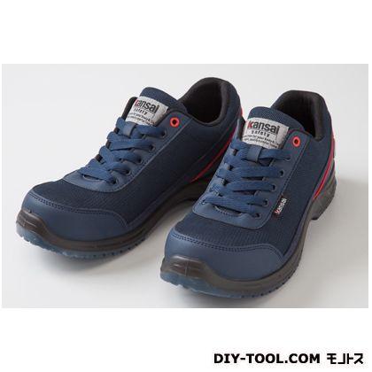 Kansai safety 紐タイプ 作業用靴 ネイビー 25.0cm KAS-300