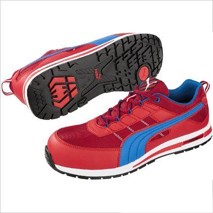 キックフリップ・レッド・ロー 作業靴 レッド 24.5cm 64.320.0  足