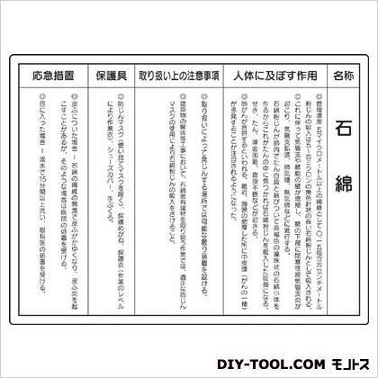 石綿取り扱い作業所標識 寸法mm:450×600 (32450) 1ヶ