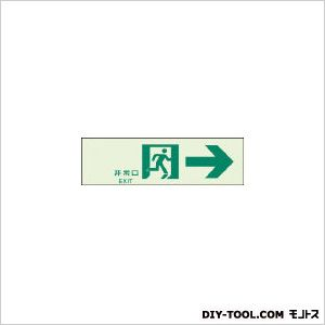 ユニット 誘導標識 非常口→N夜光両面テープ2本付  100×300 31965A 1 ヶ