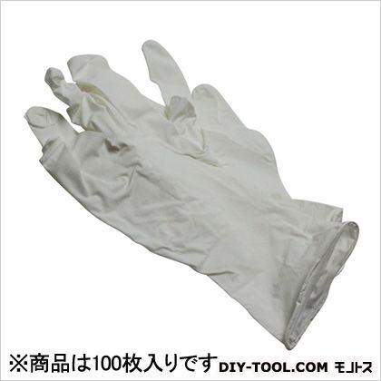 ニトリル手袋 粉付 白 M  100 枚