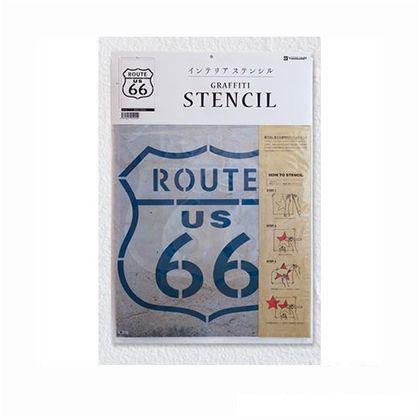 グラフィティーステンシル (ROUTE 66)  36×53cm SS-03