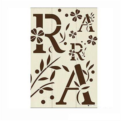 小屋女子計画ステンシル 「A~olive~」  36×55cm KJ-01