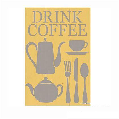 小屋女子計画ステンシル 「cafeShelf」  36×55cm KJ-08