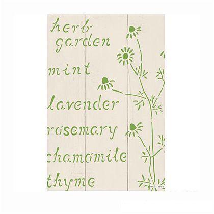 小屋女子計画ステンシル 「herbgarden」  36×55cm KJ-11