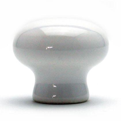 セラミックつまみ ホワイト 横幅:最大25mm、設置面の横幅:15mm、高さ:22mm TW-141