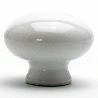 セラミックつまみ ホワイト 横幅:最大32mm、設置面の横幅:17mm、高さ:25mm TW-142