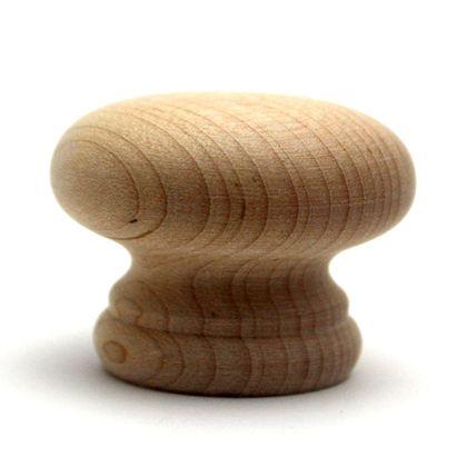 木製つまみ  横幅:最大38mm、設置面の横幅:28mm、高さ:30mm TW-302