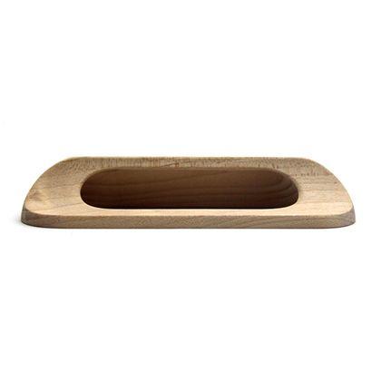 木製取手  全長:116mm、ビスピッチ:96mm、高さ:22mm TW-309
