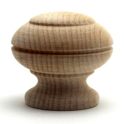 木製つまみ  横幅:最大32mm、設置面の横幅:24mm、高さ:29mm TW-315