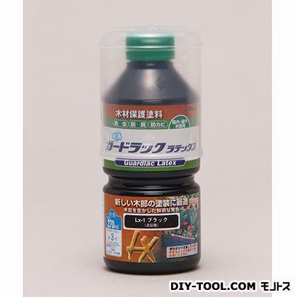 水性ガードラックラテックス 木材保護塗料(防虫・防腐・防カビ効果) ブラック 270ml LX-1