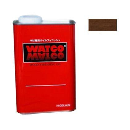 ワトコオイル浸透性木材用塗料 エボニー 1L W-10