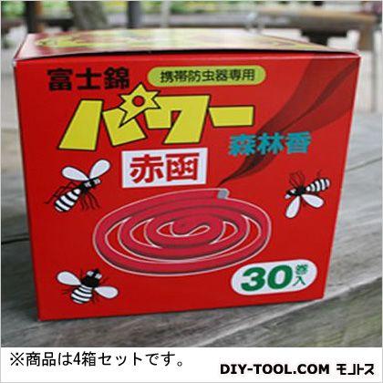 パワー森林香 携帯防虫器用線香 30巻×4箱セット