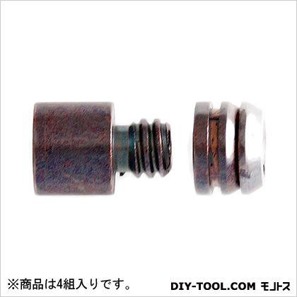 真鍮ダボ棚受 GB色 9mm Z-509 1袋(4組)