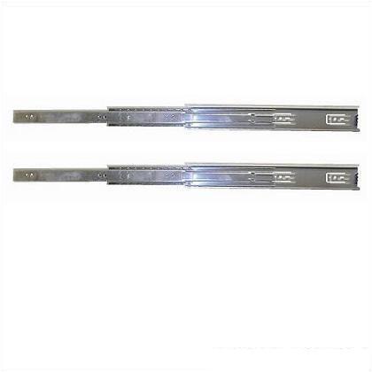 三段引スライドレール ユニクロメッキ 450mm (12116) 左右各1ヶ