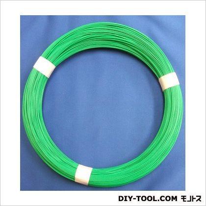 ビニールカラー針金 #12 1kg巻 緑  61072  巻