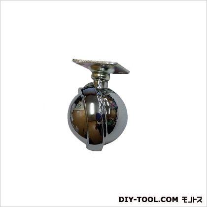 ダイカストボールキャスター プレート式 クロームメッキ 60mm 51447
