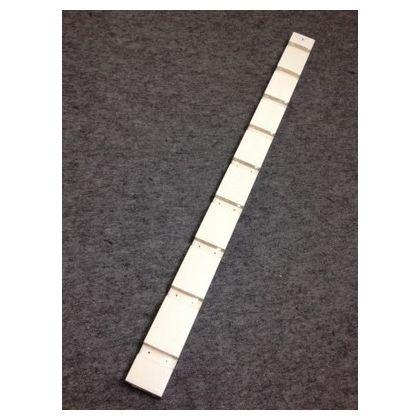 メラミンカラー棚板 支柱 ホワイト  27×60×1800mm MKLPW27606 3 枚