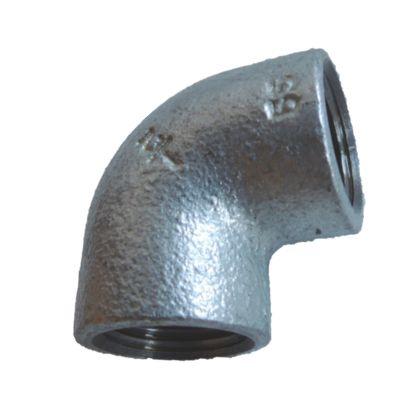 配管(ガス管)パーツねじ込み式エルボ  呼び径A:15呼びB:1/2