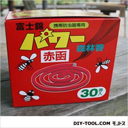 パワー森林香 携帯防虫器用線香 赤箱    30 巻入り