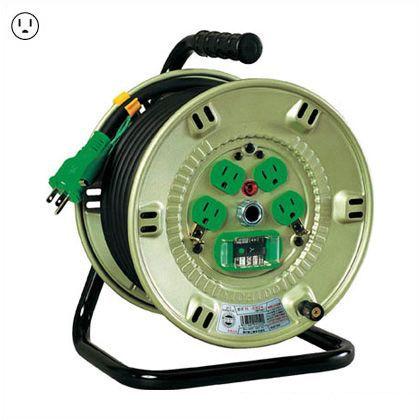 100V漏電遮断器付電工ドラム   NP-EB24