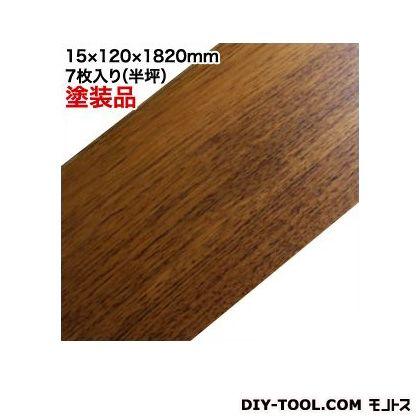 無垢フローリング材 ビルマ本チーク UV塗装品 15×120×1820 7枚(半坪)