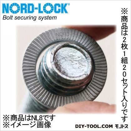 ノルトロックワッシャーブリスターパックセット 外形13.5mm (NL8) 2枚1組20セット