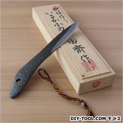 都田齋 木目 いるか小刀 ストラップ付 桐箱入  約5寸5分   本