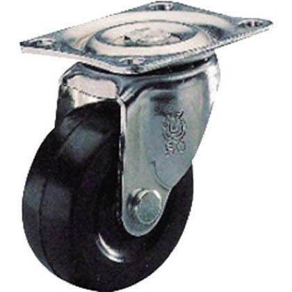 ユーエイ プレート式ゴムキャスター自在  50径 G50RZ