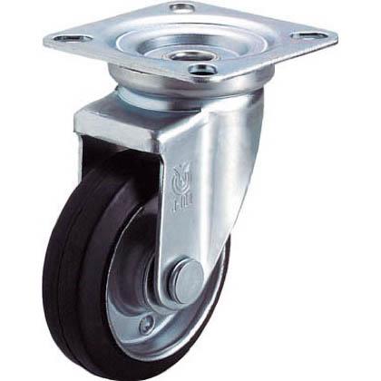 産業用キャスター自在車 ゴム車輪  75径 WJ75Y