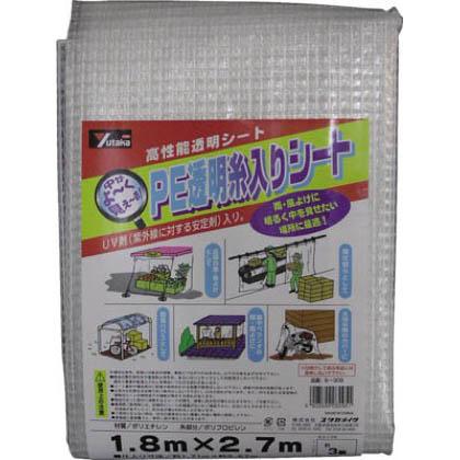 PE透明糸入りシート クリアー 1.8m×2.7m B-309