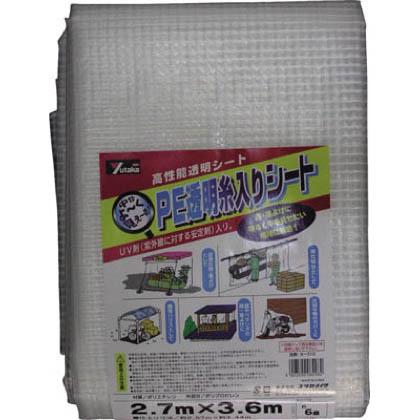 PE透明糸入りシート クリアー 2.7m×3.6m B-312