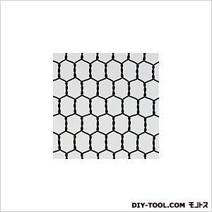 ビニール 亀甲金網 ブラック 巾×長さ:450mm×30m #20×10mm目