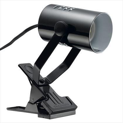 ヤザワ クリップライト1灯口金E26電球なし ブラック セード径60×D100、アーム長115最長時 Y07CLX25X02BK