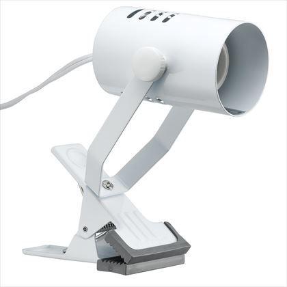 ヤザワ クリップライト1灯口金E26電球なし ホワイト セード径60×D100、アーム長115最長時 Y07CLX25X02WH