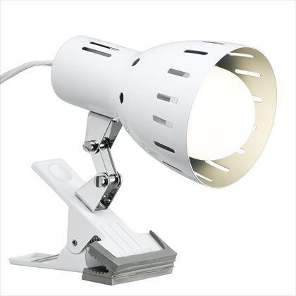 クリップライトE26電球なし クローム W90mm×H90mm×D150mm Y07CLX60X01WH