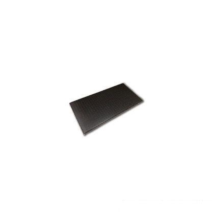 疲労軽減マット 縞鋼板 ブラック 900X450 1枚入り