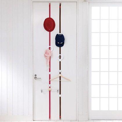 吉川国工業所 ドアフック プラス リング 帽子用 ピンク 約幅13×奥行7.5×高さ240(cm)※取り付け最大時 DH-06