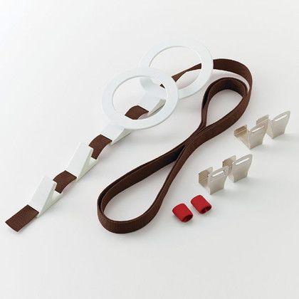 吉川国工業所 ドアフック プラス リング 帽子用 ブラウン 約幅13×奥行7.5×高さ240(cm)※取り付け最大時 DH-06