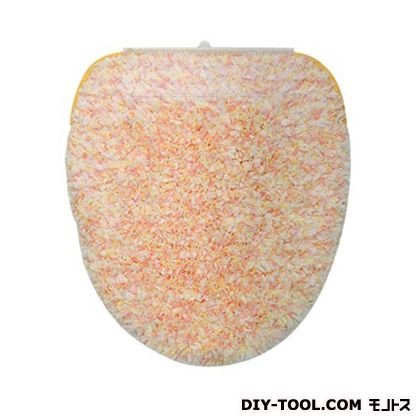 ヨコズナクリエーション トイレフタカバーキャンディフロス洗浄便座用 オレンジ  236772