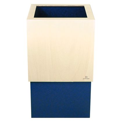 ヤマト工芸 ゴミ箱 W CUBE ダークブルー 約幅20.0×奥行20.0×高さ33.0(cm) 212686