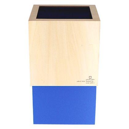ヤマト工芸 ゴミ箱 W CUBE ライトブルー 約幅20.0×奥行20.0×高さ33.0(cm) 212689