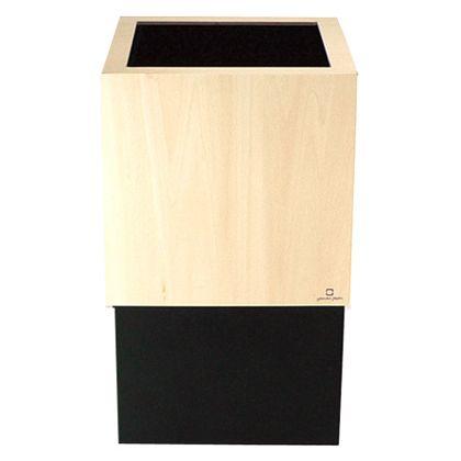 ヤマト工芸 ゴミ箱 W CUBE ブラック 約幅20.0×奥行20.0×高さ33.0(cm) 212695