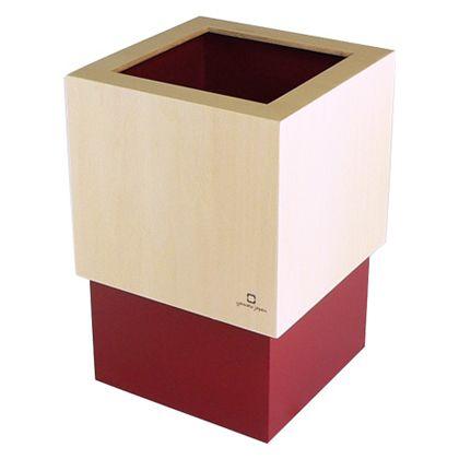 ヤマト工芸 ゴミ箱 W CUBE レッド 約幅15.0×奥行15.0×高さ22.5(cm) 212712