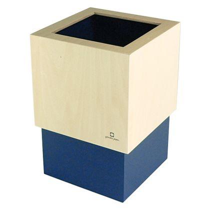 ヤマト工芸 ゴミ箱 W CUBE ダークブルー 約幅15.0×奥行15.0×高さ22.5(cm) 212713