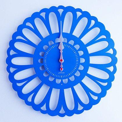 掛け時計 Marguerite ブルー 幅30×奥行2.5×高さ30(cm) YK13-102