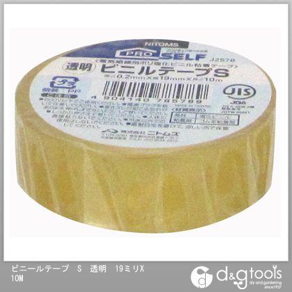 ビニールテープS 透明 19mm×10m J2578
