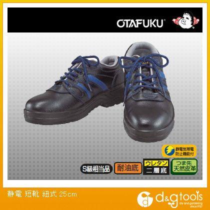 静電 短靴 紐式  25.0cm JW-753