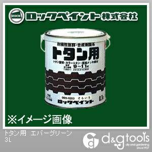 ロックペイント トタン用塗料 エバーグリーン 3L H69-1062