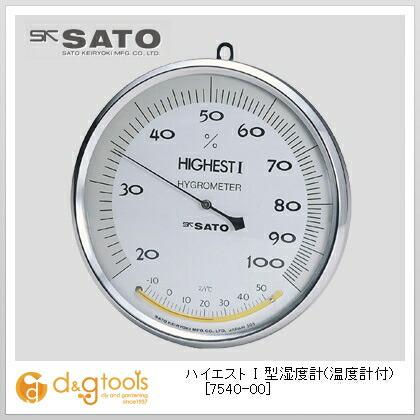 ハイエスト1型湿度計(温度計付)   7540-00